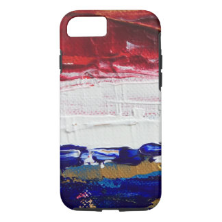 Red, White, Blue, and Gold iPhone 7 Case