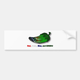 Red, White, Blue and Green Bumper Sticker