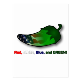 Red, White, Blue and Green Postcard