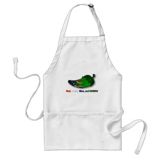 Red, White, Blue and Green Standard Apron