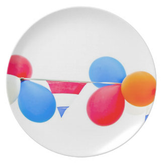 Red, white, blue and orange balloons from Holland Plate