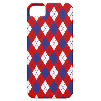 Red,White,Blue Argyle 1-iPhone SE/5s Case iPhone 5 Cover