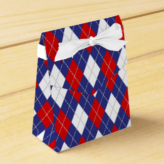 Red,White,Blue Argyle 2-PARTY FAVOR BOX,tent Party Favour Boxes
