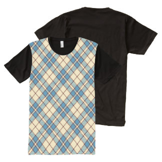 Red, White & Blue Argyle All-Over Print T-Shirt