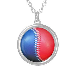 Red White & Blue Baseball Pendant