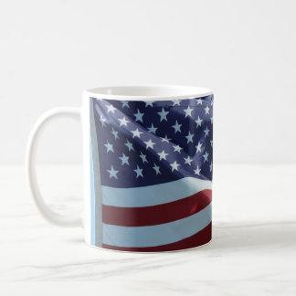 Red White & Blue Basic White Mug