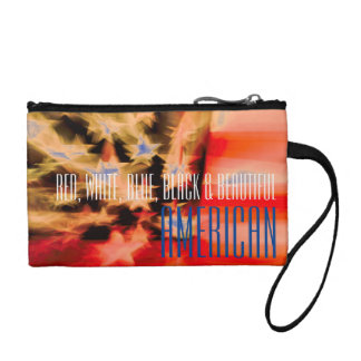 Red, White, Blue, Black & Beautiful American Coin Purse