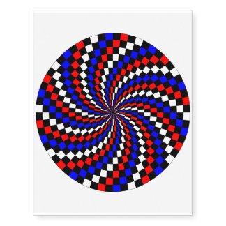 Red White Blue Checker Spiral