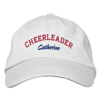 Red, White, & Blue Custom Cheerleader's Hat Embroidered Baseball Caps