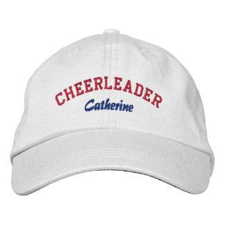 Red, White, & Blue Custom Cheerleader's Hat Embroidered Baseball Caps