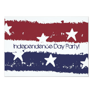 Red White & Blue Distressed Paint Party Invitation
