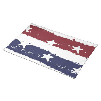 Red, White & Blue Distressed Paint Placemat