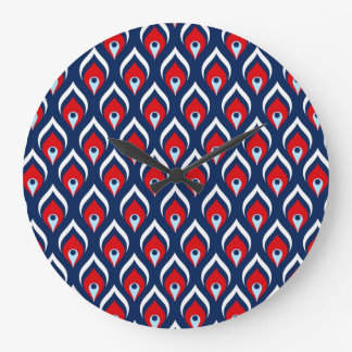 Red, White, & Blue Dragon Scale Clock