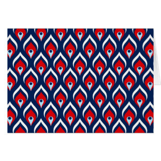 Red, White, & Blue Dragon Scale Greeting Card