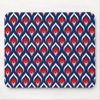 Red, White, & Blue Dragon Scale Mousepad