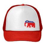 Red, White & Blue Elephant Cap