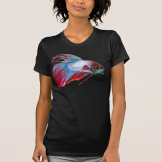 Red White & Blue (Fish clear background) T-Shirt