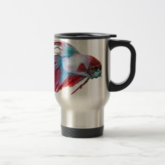 Red White & Blue (Fish clear background) Travel Mug