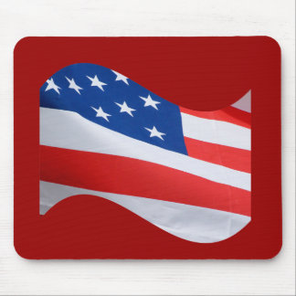 Red white blue flag mouse pad