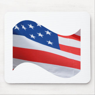 Red white blue flag mouse pads