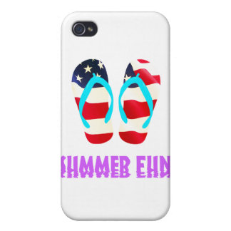 Red White Blue Flip Flops Case For iPhone 4