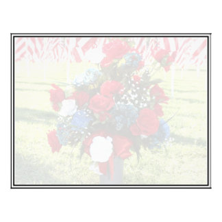 Red White Blue Floral Arrangement Custom Flyer