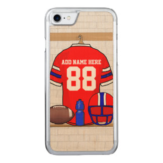 Red White Blue Football Jersey Carved iPhone 8/7 Case