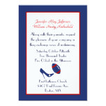 Red, White, & Blue Football Wedding Invitation