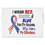 Red White Blue For My Grandson Greeting Card
