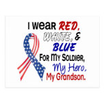 Red White Blue For My Grandson Postcard