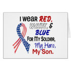 Red White Blue For My Son Card