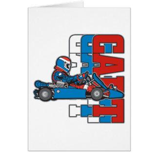 Red, White Blue Go Cart Card
