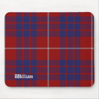 Red, White, & Blue Hamilton Tartan Plaid Mouse Mat