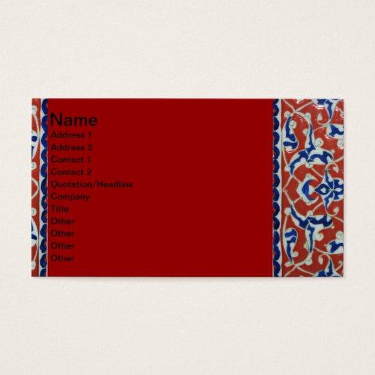 Red, white, blue Iznik pottery Tile Ottoman Empire