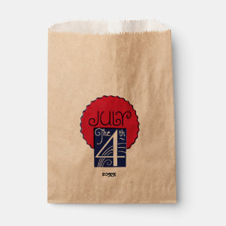 Red, White, Blue July 4th Favor Bag