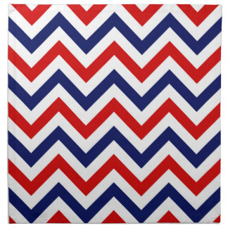 Red, White, Blue Large Chevron ZigZag Pattern Napkin