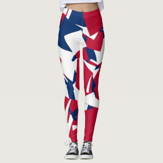 Red white blue leggings