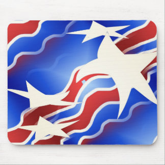 Red White Blue Mouse Mat