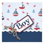 Red White Blue Nautical Ships Ahoy! Baby Shower S1