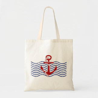 Red, White & Blue Nautical Tote Bag