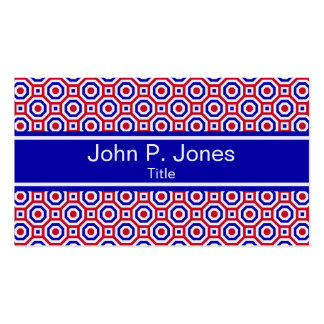 Red/White/Blue Nested Octagon Business Card
