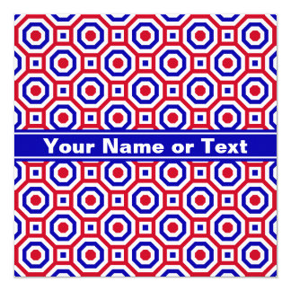 Red/White/Blue Nested Octagon Invitation