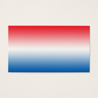 Red White & Blue Ombre Business Card