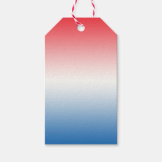 Red White & Blue Ombre Gift Tags