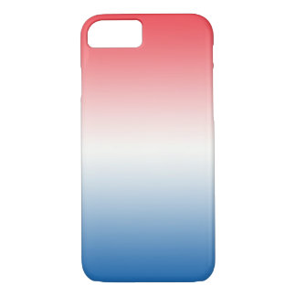 Red White & Blue Ombre iPhone 7 Case