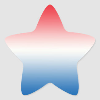 Red White & Blue Ombre Star Sticker