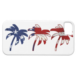 Red White Blue Palm Tree iPhone 5/5S Cases