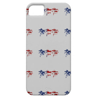 Red White Blue Palm Tree iPhone Case iPhone 5 Cover