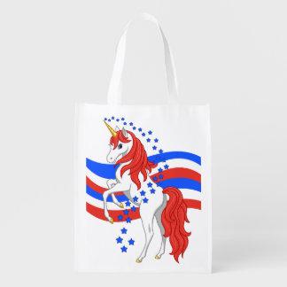 Red White Blue Patriotic American Unicorn