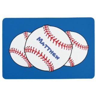 Red White Blue Patriotic Baseball Floor Mat